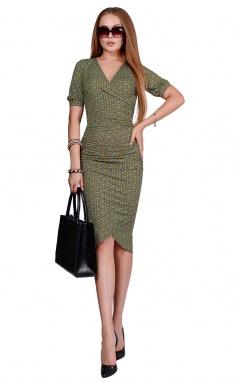 Dress La Café by PC NY1823 chern,gol,salatovyj
