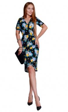 Dress La Café by PC NY1823 chern,zheltyj,siren