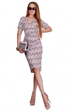 Dress La Café by PC NY1823 mol,roz,myat