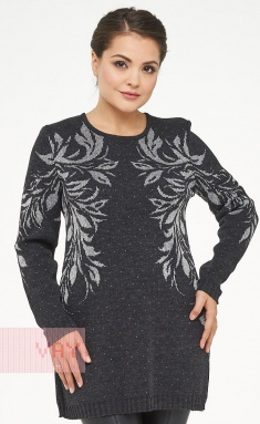 Jumpers, cardigans, blazers Newvay 182-4675 antracit/met.nit silver