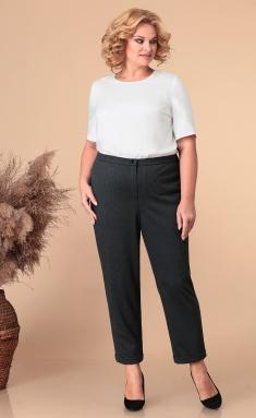 Trousers Linia L V-12 sero-sin / chern