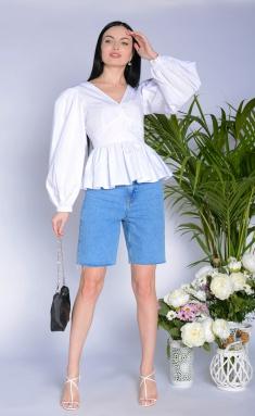 Blouse Elite Moda 5277 belyj
