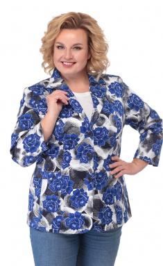 Blazer BelElStyle 203 sinie cvety