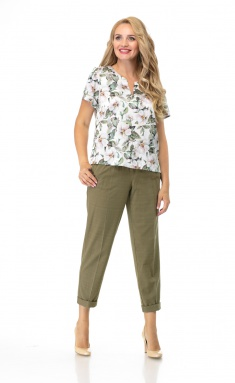 Trousers BelElStyle 594 oliva