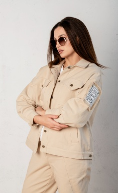 Jacket Angelina Design Studio 0649-2 kurtka pesok
