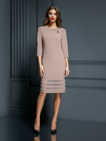 Dress AYZE #1841 kapuchino
