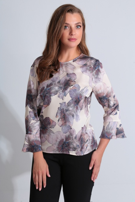 Blouse Golden Valley #26418 bezhevo-serenevyj