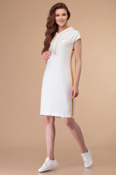 Dress Linia L #B-1818 moloko / gorch